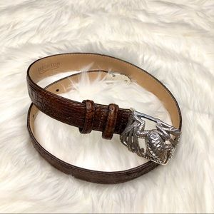 Brighton Leather Belt with Frog Buckle